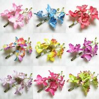 Women's Butterfly Flower Hair Orchid Wedding Pin Barrette Party Bridal Prom Clip