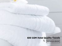 600 GSM White Hotel Quality Towels | 100% Organic Cotton | Discounted Prices