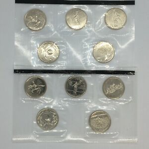 1999-P&D UNC State Quarters from US Mint Set - 10-Coins