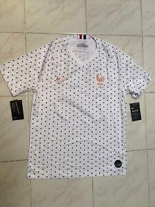 Nike 19/20 France Away Stadium Soccer Jersey White/Navy BV3423 102 Size Men M