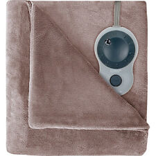 Sunbeam Velvet Plush Heated Blanket, King Size (Mushroom) BSV9GKS-R772-12A44