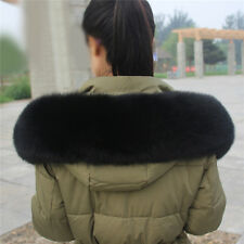 Women Real Farm Vulpes lagopus Fox Fur Collar Wrap Shawl Large Scarf Wholesale