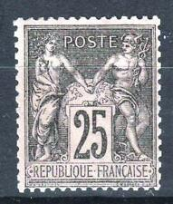 "FRANCE STAMP TIMBRE N° 97 "" TYPE SAGE  25c NOIR SUR ROSE "" NEUF xx LUXE  P169"