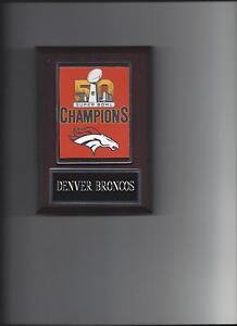 DENVER BRONCOS SB 50 CHAMPS BANNER PLAQUE FOOTBALL NFL SUPER BOWL CHAMPIONS