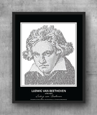 Ludwig van Beethoven Poster in his own words. Image made of Beethoven's quotes!