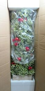 """36"""" Glistening Boxwood Topiary with Berries & Ornaments by Valerie Parr Hill"""