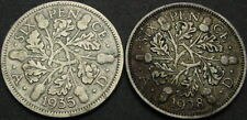 GREAT BRITAIN 6 Pence 1928/1935 - Silver - George V - 2 coins - 292 ¤