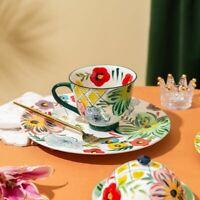 Ceramic Hand Painted Flower Tableware Vintage Plate Bowl Mug Serving Set Dish