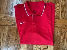 Men's Nike Dri-Fit Red Polo Shirt, Size Medium, Nice