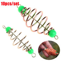 Olive Explosion Fishing Bait Spring Lure Hanging Tackle  Stainless Steel Feeder