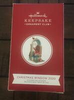Hallmark 2020 CHRISTMAS WINDOW #18 KOC Member Exclusive Ornament Girl Santa