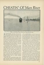 1933 Ohio River Flood at Portsmouth OH Protective Walls Built Natural Disaster