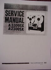 TEAC A-2300SX & A-3300SX TAPE DECK SERVICE MANUAL 59 Pages