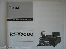 Icom-f7000 (véritable manuel d'instructions uniquement).......... radio_trader_ireland.