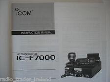 Icom-f7000 (autentica manuale di istruzioni solo).......... radio_trader_ireland.
