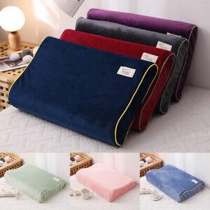 Velvet Pillowcase Pillow Case Cover For Contour Memory Foam Neck Pillow Decor