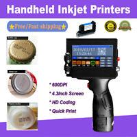 Handheld Inkjet Printers 600DPI Ink Date Text QR Code Barcode Machine Cartridge