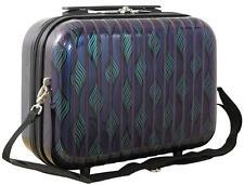 36883 Schminkkoffer Beautycase Kosmetikkoffer Make Up Gr.S Retro Welle Lila