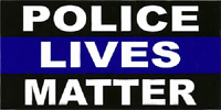 "Thin Blue Line Police Lives Matter Decal Vinyl Bumper Sticker (3.75""x7.5"")"