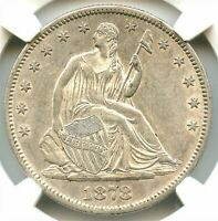 1878-CC Liberty Seated Silver Half Dollar, NGC AU-55, Affordable Great CC Coin!