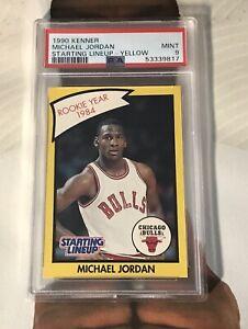 1990 Michael Jordan Kenner Starting Lineup Rookie Card! PSA 9
