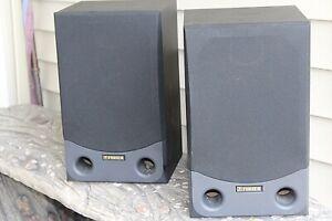 Vintage Fisher ST-992 2-Way Speakers Black Pair 8 Ohms 100 Watt *FAST SHIPPING*