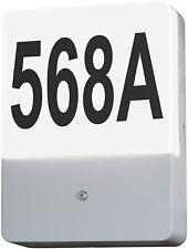 LED  Hausnummerleuchte Hausnummer Lampe Leucht mit Dämmerungs Sensor Aussenlampe