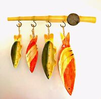 Measuring Cup Set Fishing Decor Cabin Lodge Beach House 5 Pieces 18 inches Long