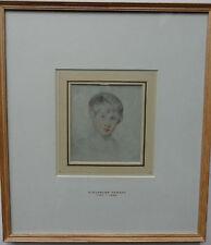 "Alexander Fraser ARSA 1786-1865 original couleur dessin ""portrait d'un garçon"""