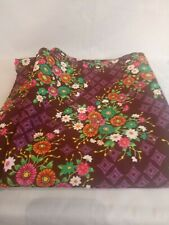 3Yd Fabric Polyester chiffon by Mandel Fabric purple and floral.