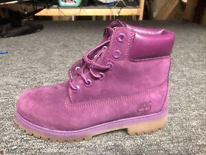Purple Timberland Boots Size 4