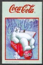 Coca Cola Icebear in Icebox Nostalgie Barspiegel Spiegel Bar Mirror 22 x 32 cm