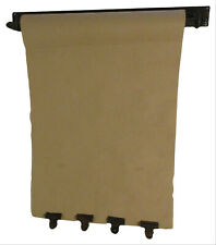 Hanging Note Roll Message Menu Board with 4 Brass Finish Clips