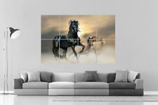 CHEVAUX HORSES RACE Wall Art Poster Grand format A0 Large Print