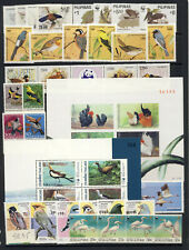 Bird on stamp Worldwide nh sets, with two Thailand sheets,Singapore 58.35