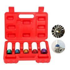 "5pc Lug Nut Impact Socket Set - Thin Wall Deep Wheel Protector 1/2"""