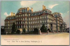 "1900s Washington DC Postcard ""State, War & Navy Building"" Street View -Rotograph"