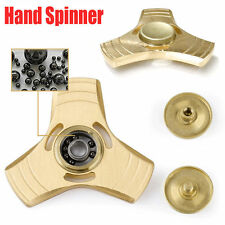 GOLD-Real Brass/Red Copper Shockproof EDC Fidget Hand Spinner Ball ADHD Torqbar