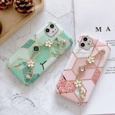 New Hot Fashion Bracelet Plating Marble Girl Women Case Cover For Various Phone