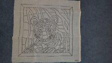 tapestry canvas long stitch tigers head 40 x 40cm