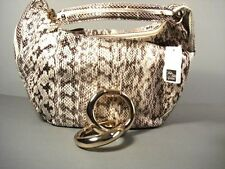 Jimmy Choo Solar Snakeskin Medium Leather Hobo Handbag Shoulder Bag Purse New