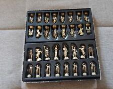 Bronze Schach Schachspiel Figuren griechische Mythologie Götter handmade RARITÄT