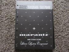 New listing Marantz Ta135Av Ta170Av stereophonic tuner Original Service Repair Manual