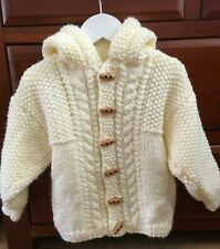 "Baby Chunky Jacket with Hood Knitting Pattern Boys Girls 16-28""  211"