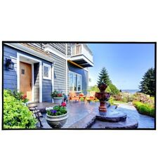 """120"""" 16:9 Roll Easily PVC Fabric Home Portable Projector Screen Outdoor Show US"""