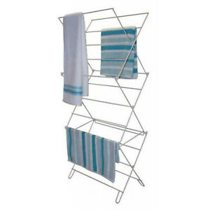 3 Tier Indoor Outdoor Foldable Clothes Dry Traditional Concertina Maiden Airer