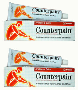 2 x 120g. Counterpain Muscular Pain Tension Relief Heat Warm Analgesic Balm HEAT