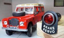 Land Rover Serie 2a 3 Rojo LED Iluminado SERVOFRENO Aviso Placa Luz Cromo