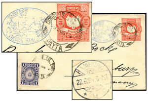 PERU 10¢ PSE + 1¢ JUN 1894 PAYTA TO HAMBURG Moll 15