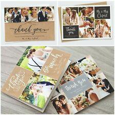 Personalised Wedding Thank You Cards Photo Pack - FREE Envelopes